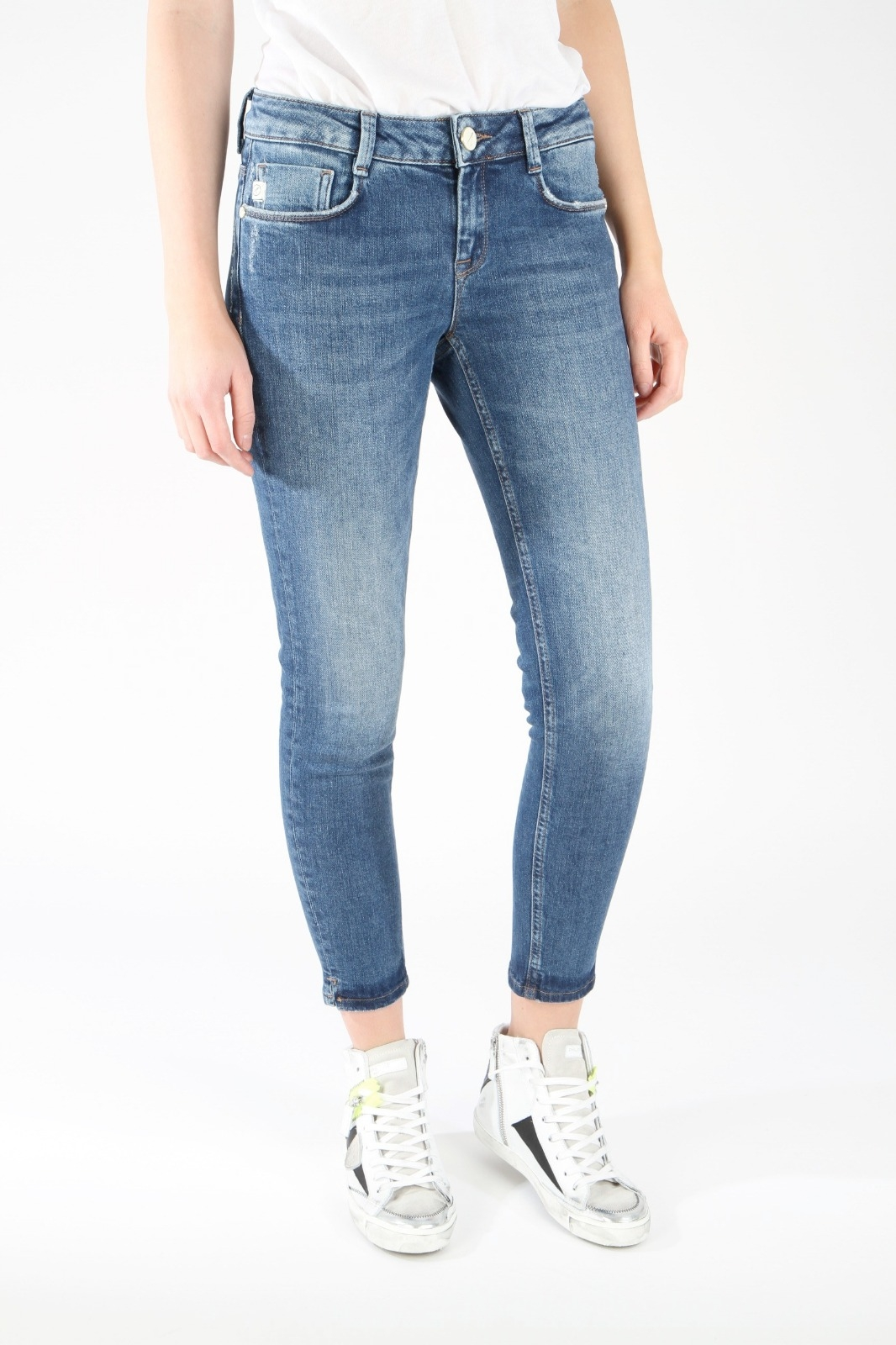 Jeans 'Jungbusch' Cropped - midblue