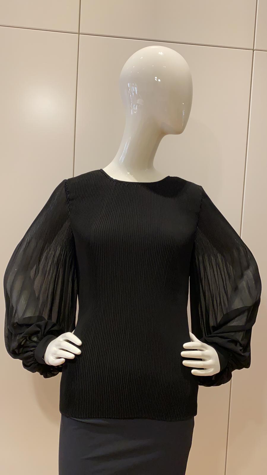 Bluse - schwarz & weiß