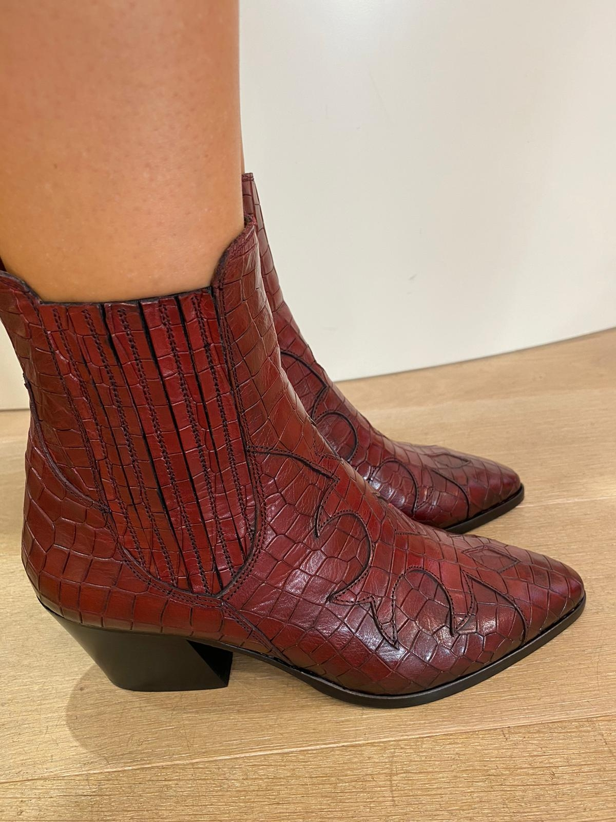Ankle Boots ALFA COCCO VINO-EM