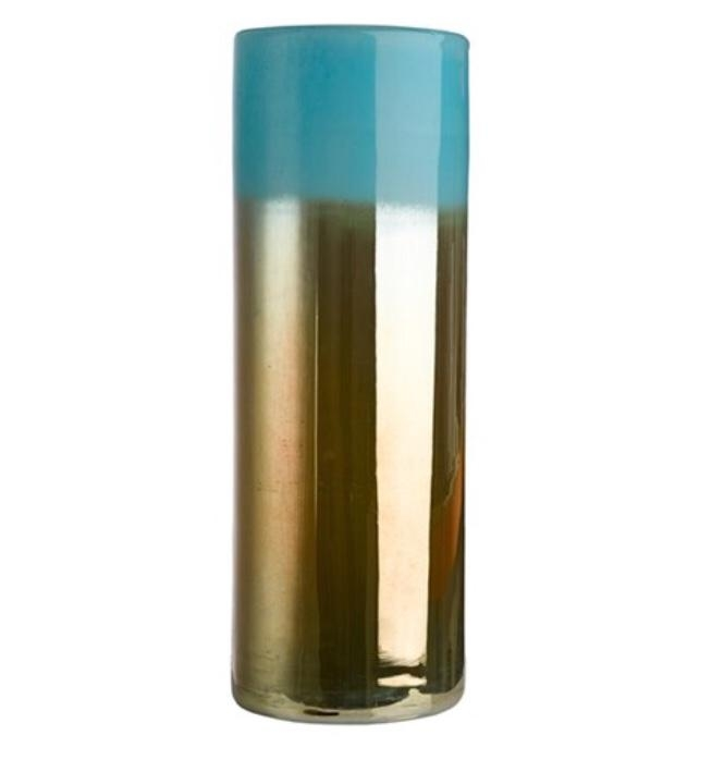 VASE HORIZON AQUA GOLD HIGH