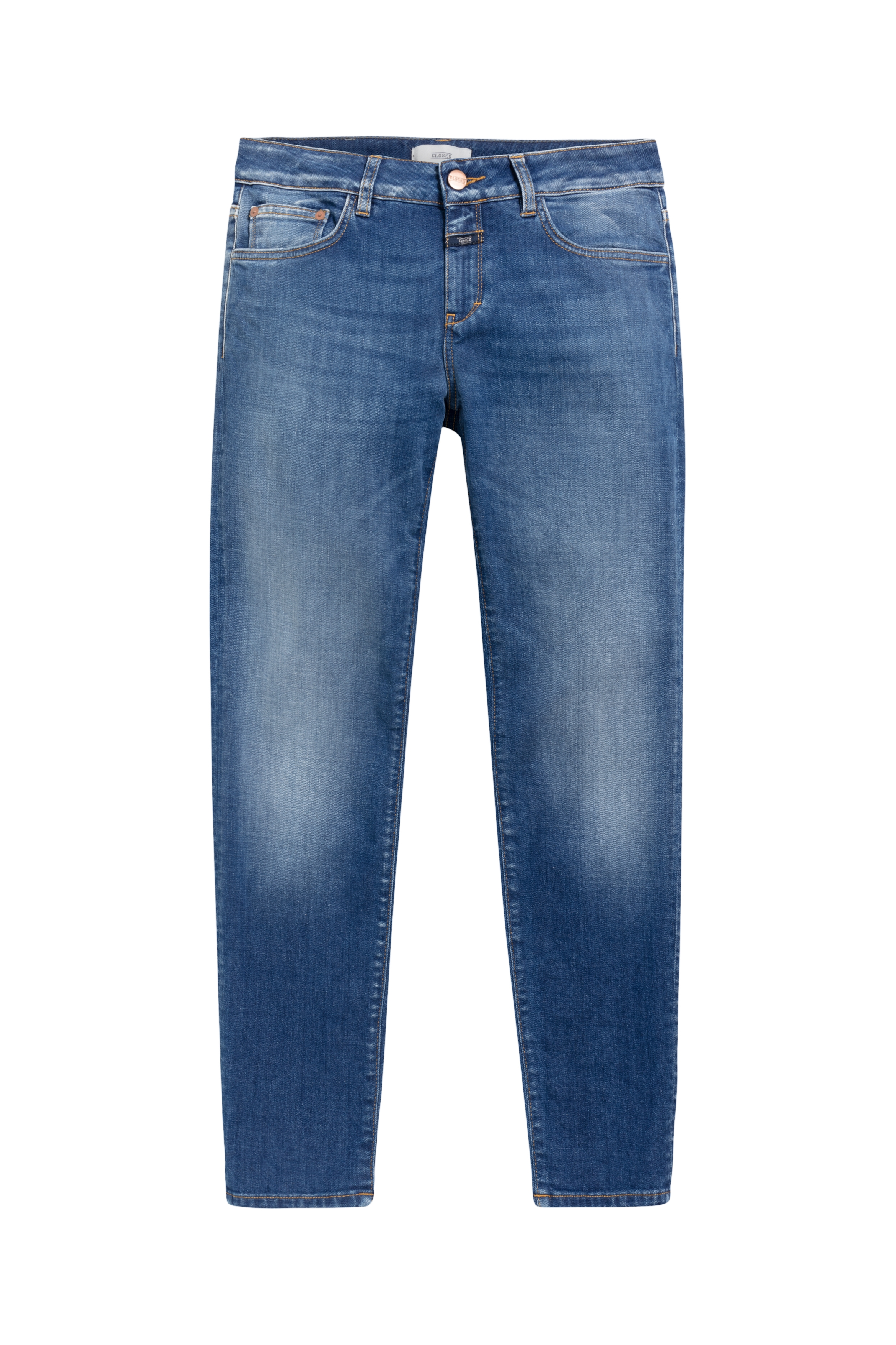 Baker blue cashmere touch stretch denim