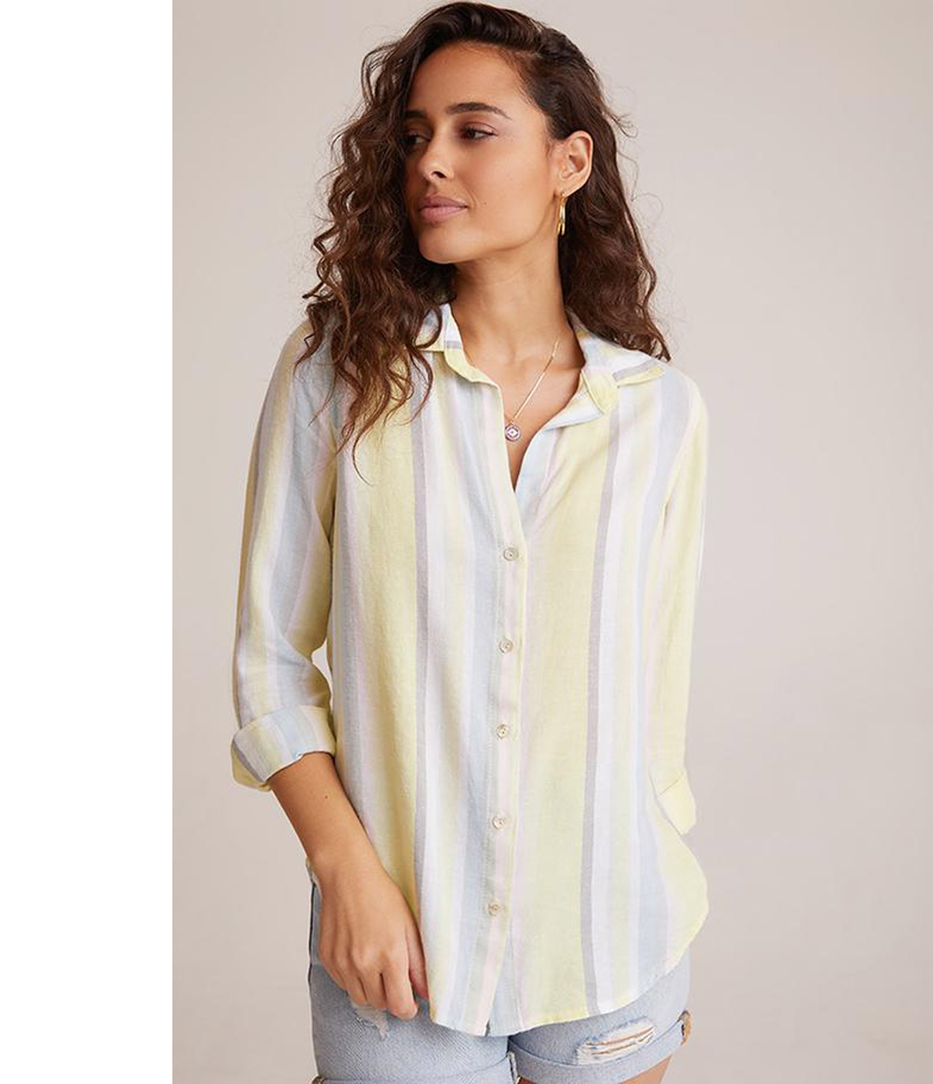 BLUSE BUTTON DOWN LIME