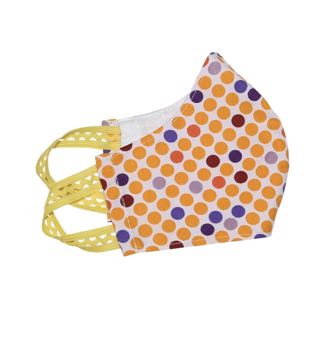 Kinder-Mund-Nasen-Maske - Punkte-Gelb