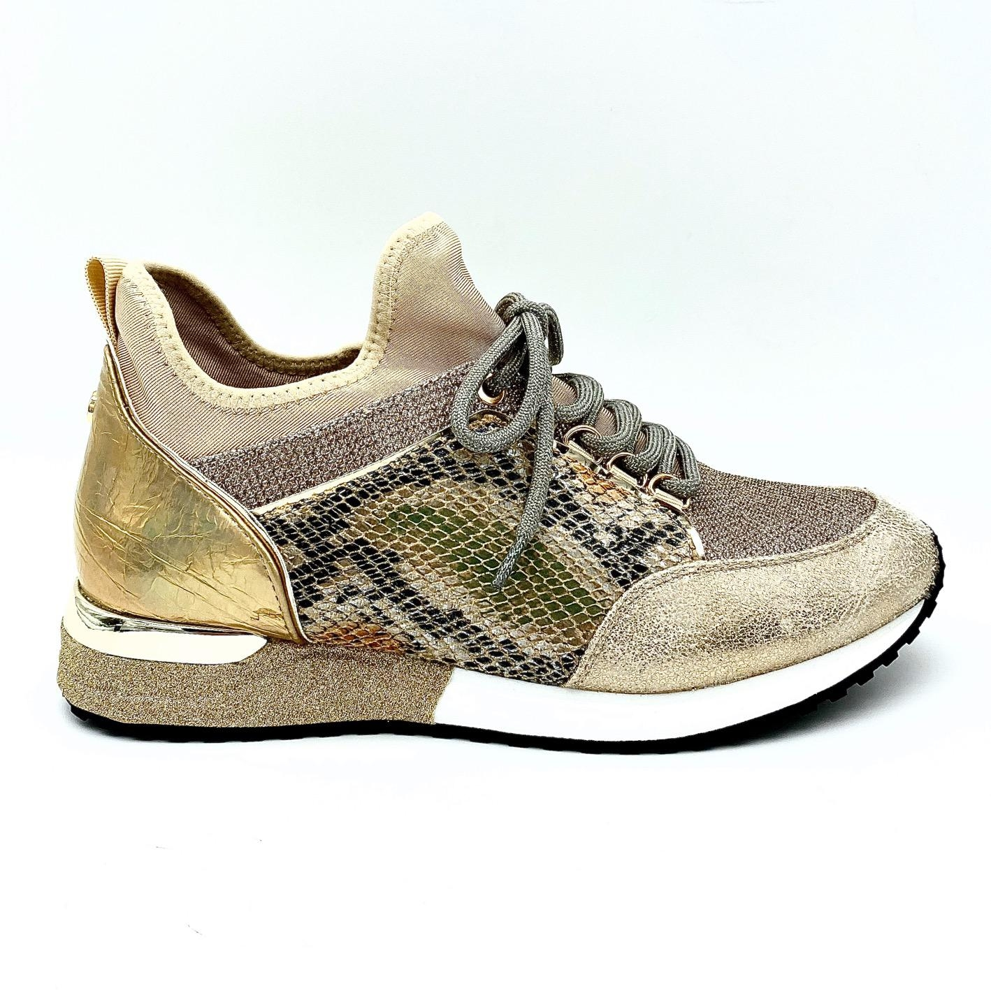 Sneaker Cracked Gold