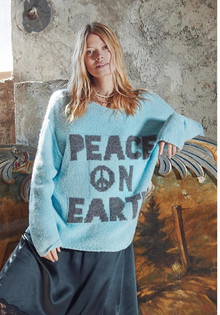 Peace on earth Strickpullover