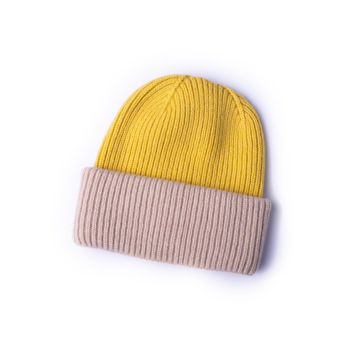 Mütze Gelb/ Rosa